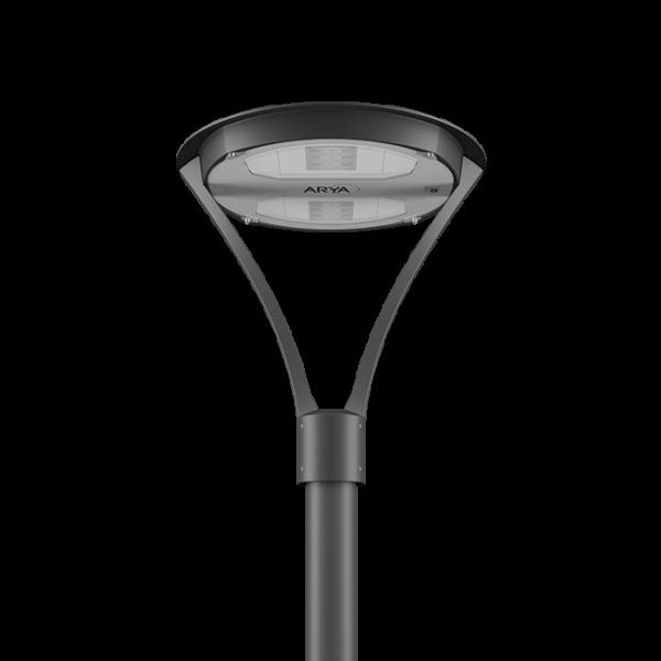 Illuminazione urbana a LED con il lampione ARYA di AEC Illuminazione