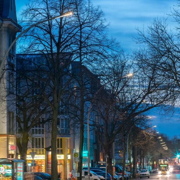 Illuminazione stradale a LED con STYLO nelle strade di Berlino - AEC Illuminazione