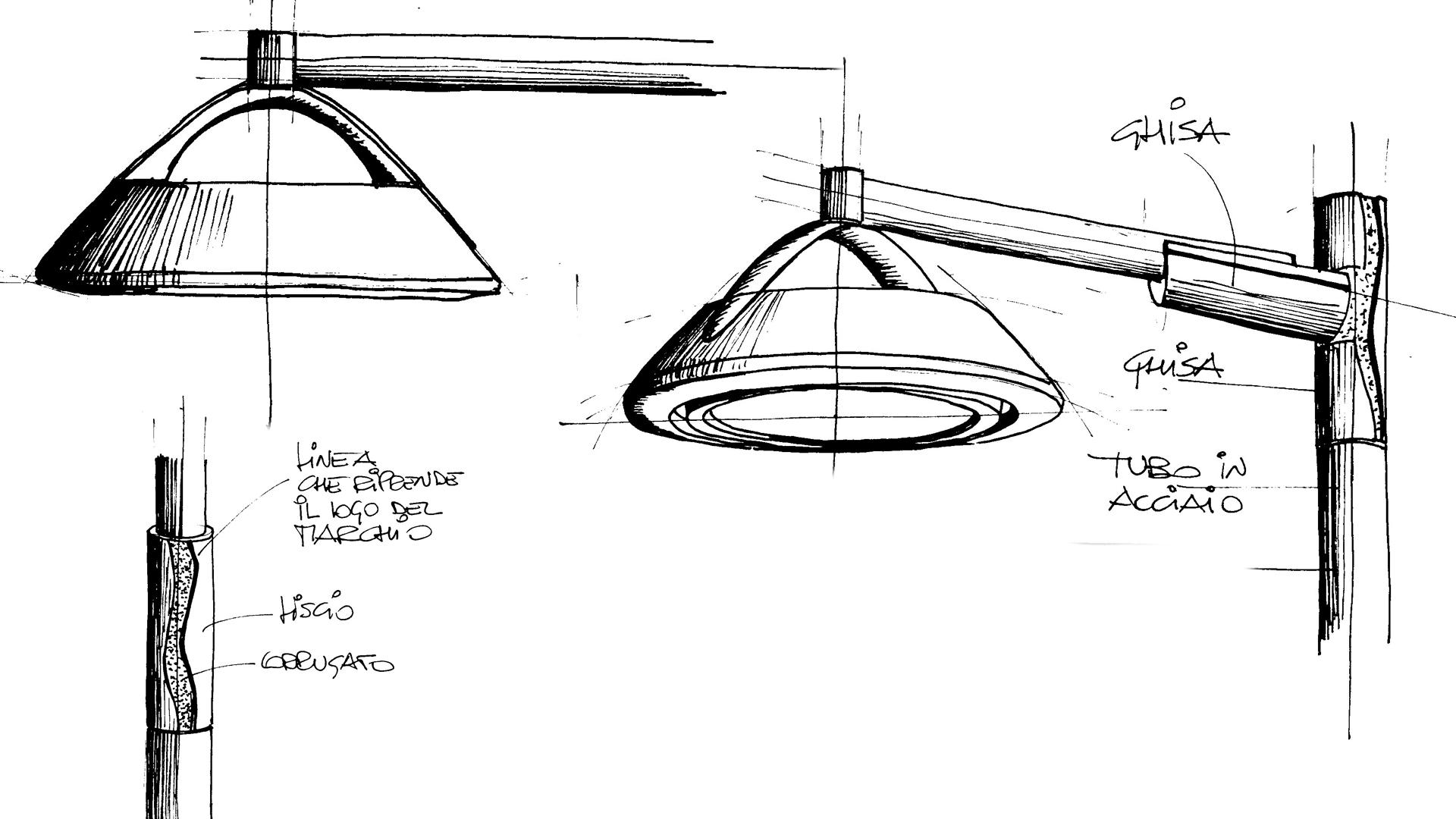 Sketch design DELOS - Illuminazione urbana LED strade residenziali con DELOS - AEC Illuminazione