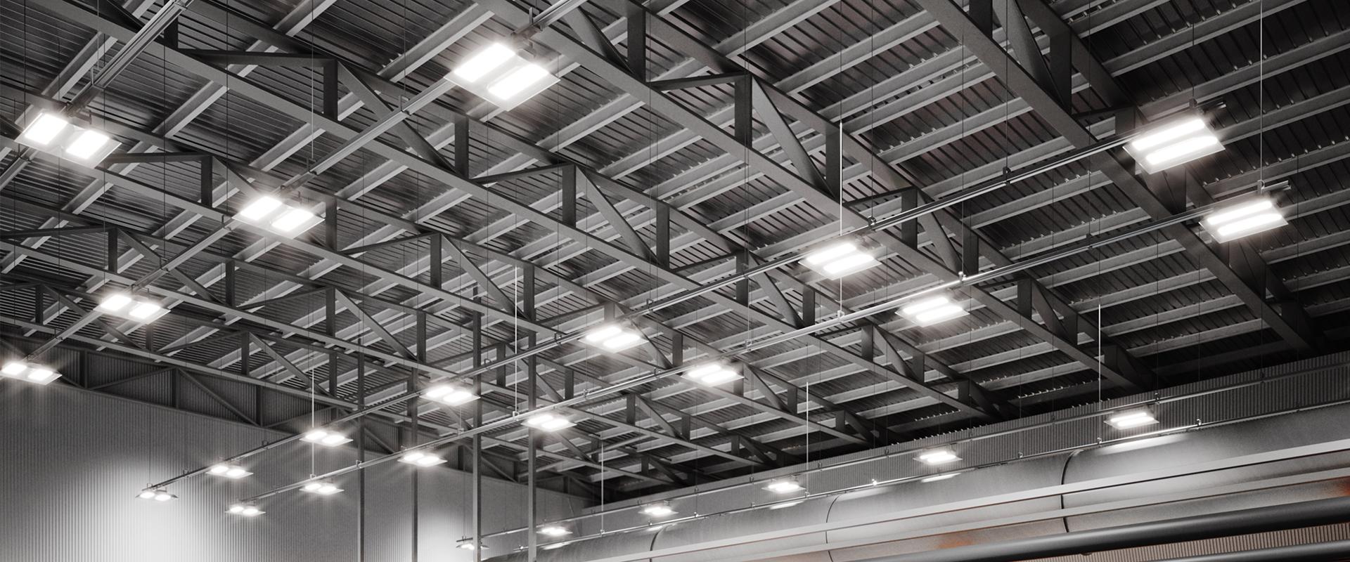 Fari a LED per capannoni e interni industriali