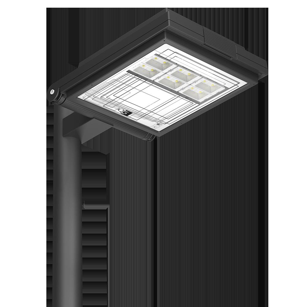 Q5 QUADRO lampione led da esterno in alluminio.