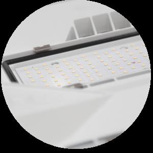 Schermo in policarbonato per illuminazione LED efficiente per industria alimentare