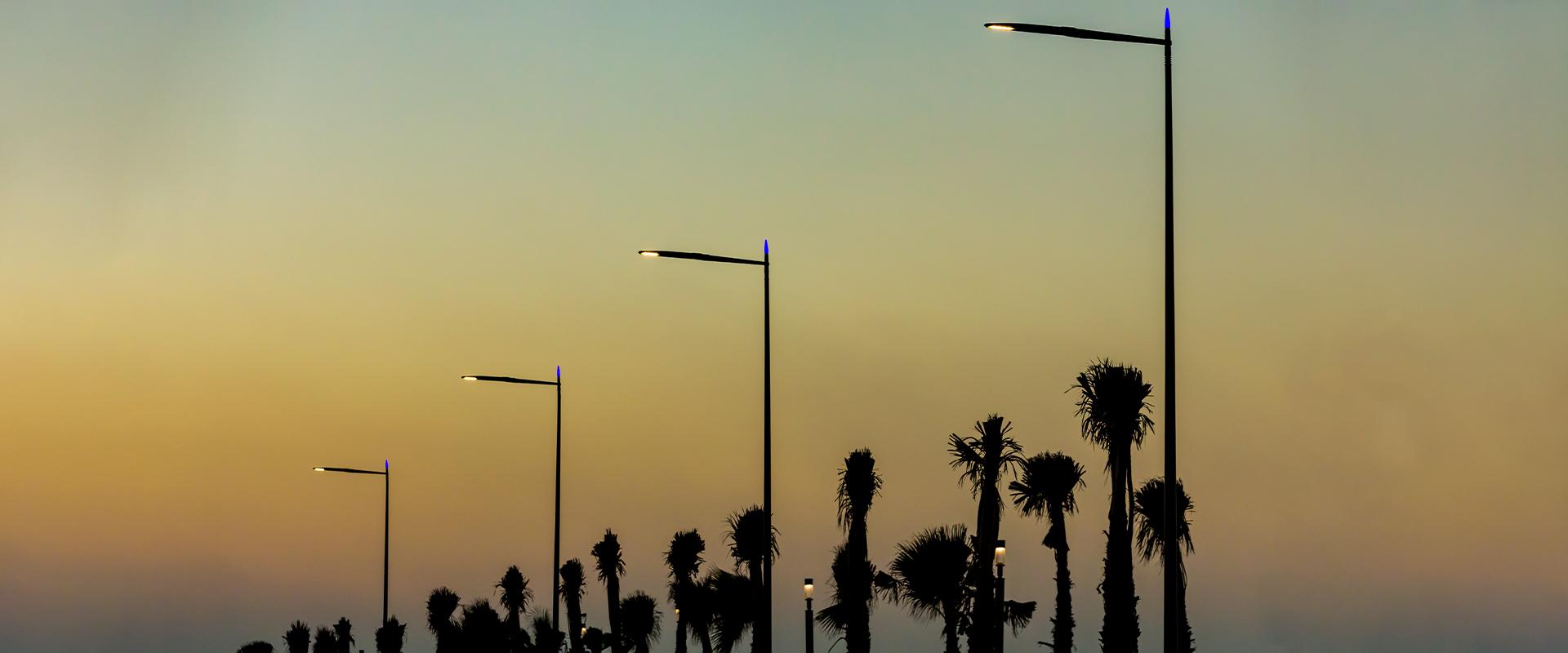 Illuminazione pubblica LED di Casablanca