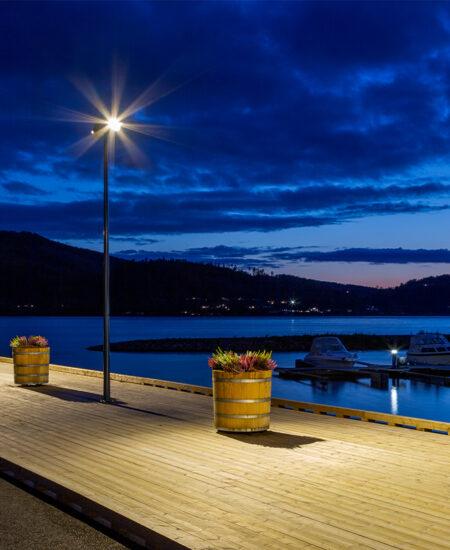 Illuminazione LED dell'area urbana di Mjøsa