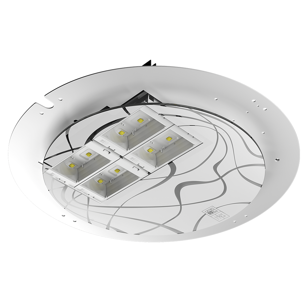 KIT RELAMPING 6 è progettato per il retrofit LED AEC Illuminazione