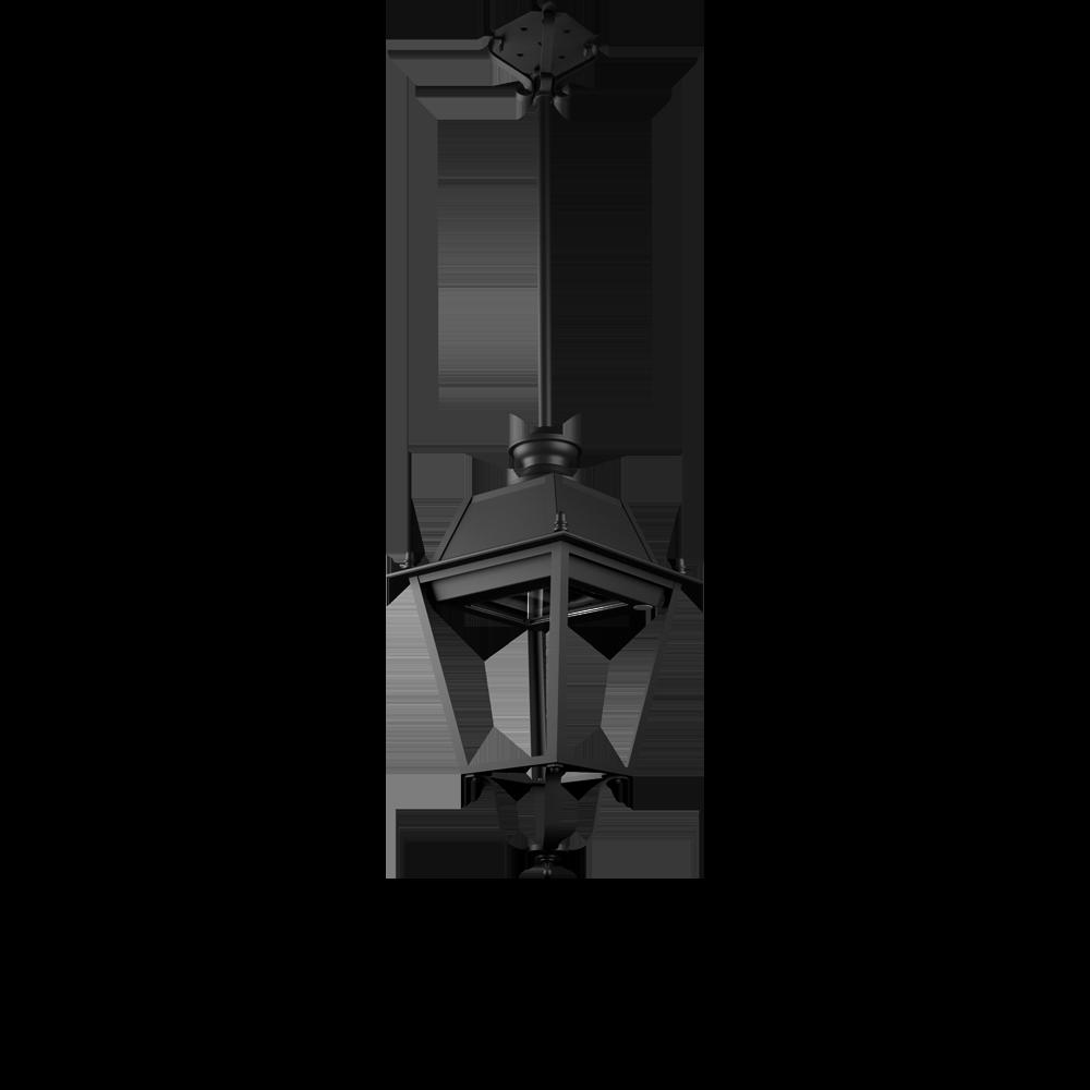 Lampione pubblico in ottone per illuminazione artistica a LED
