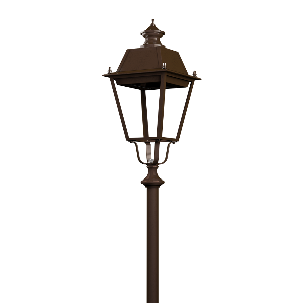 Lampione per illuminazione artistica a LED in ottone