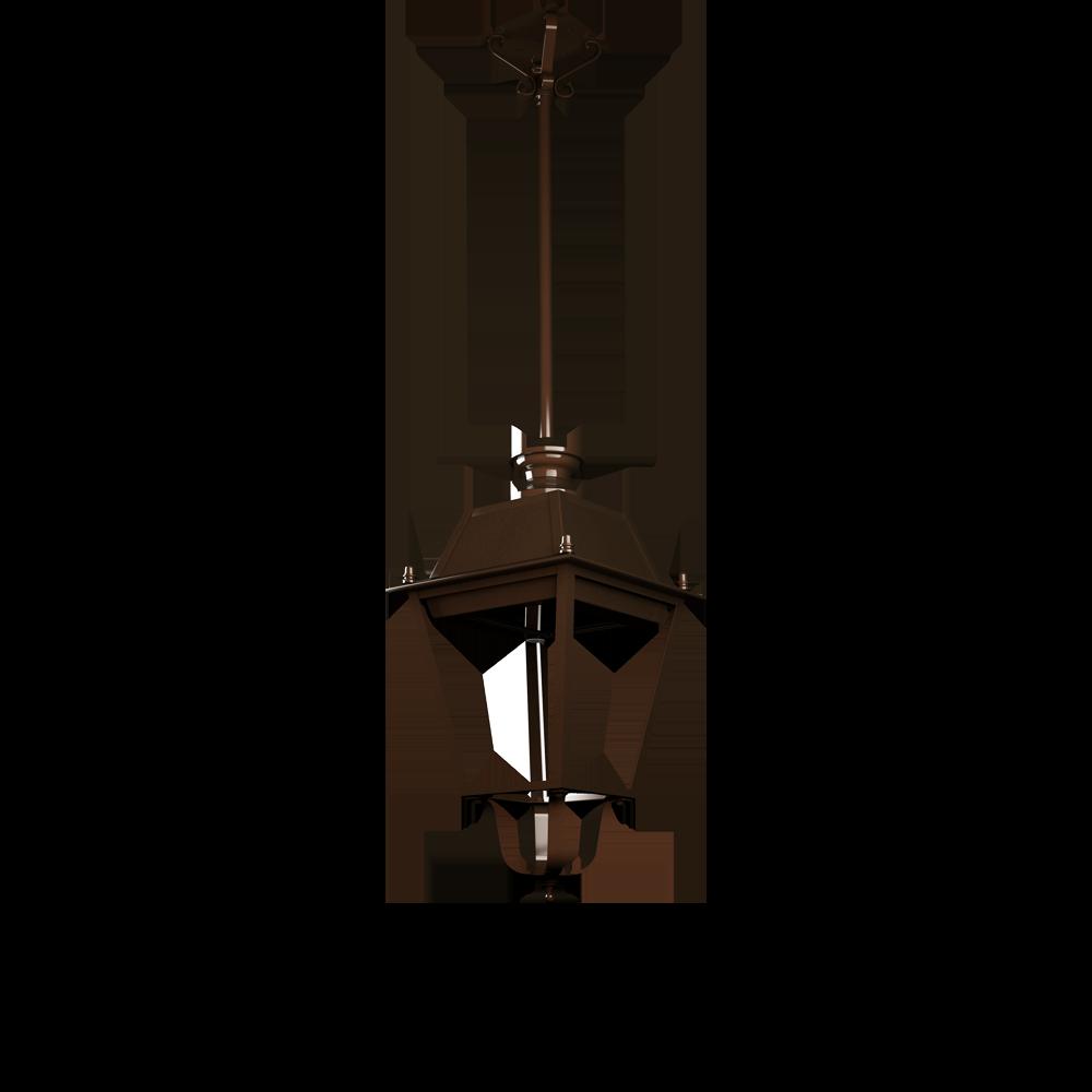 Lampione pubblico a sospensione per illuminazione artistica a LED
