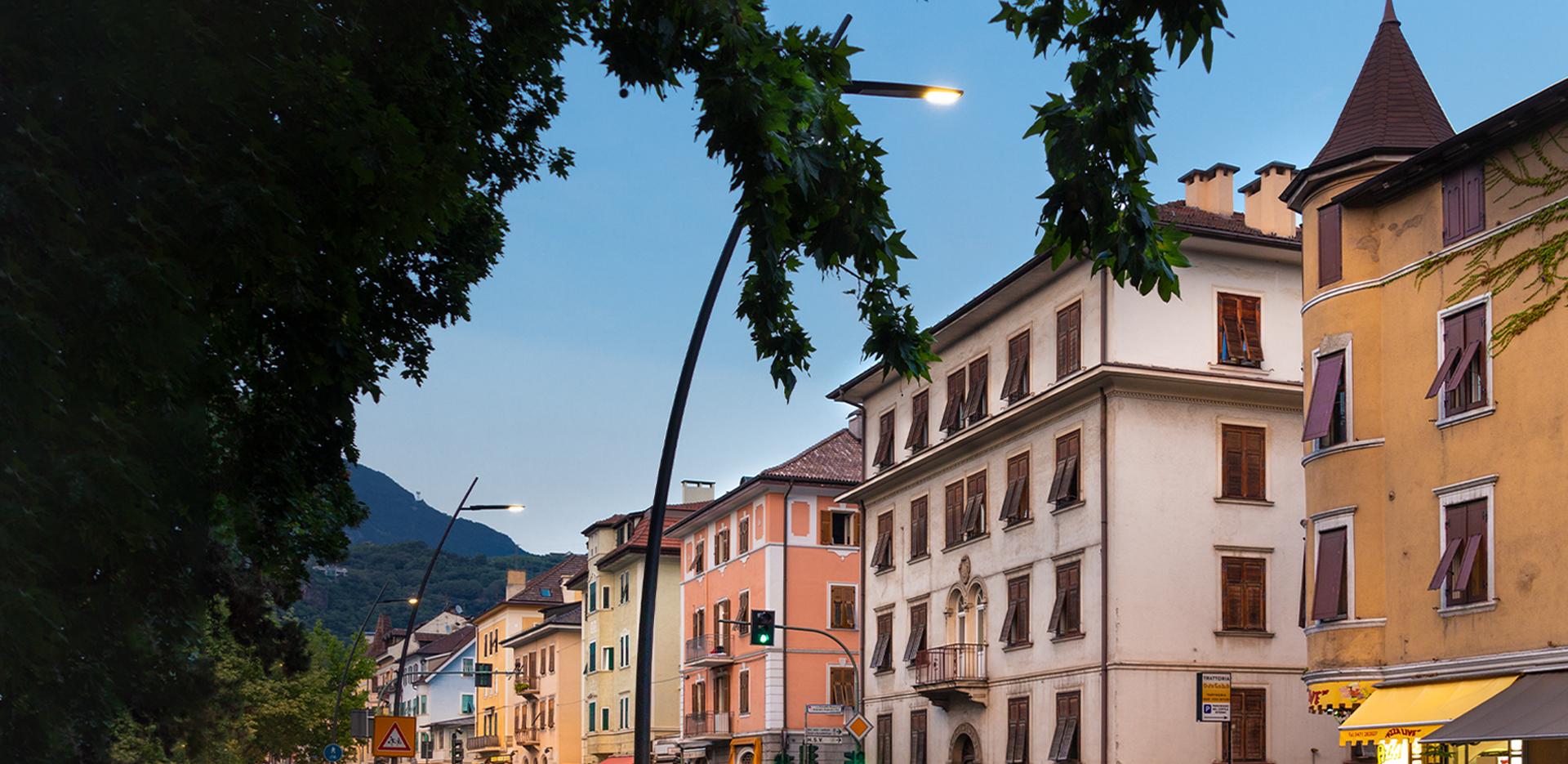Illuminazione strade di Bolzano a LED