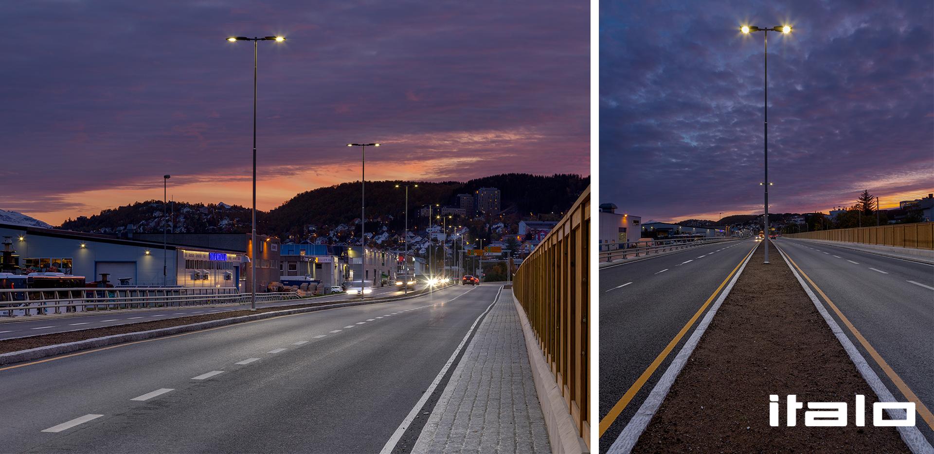 Illuminazione LED del porto di Tromsø