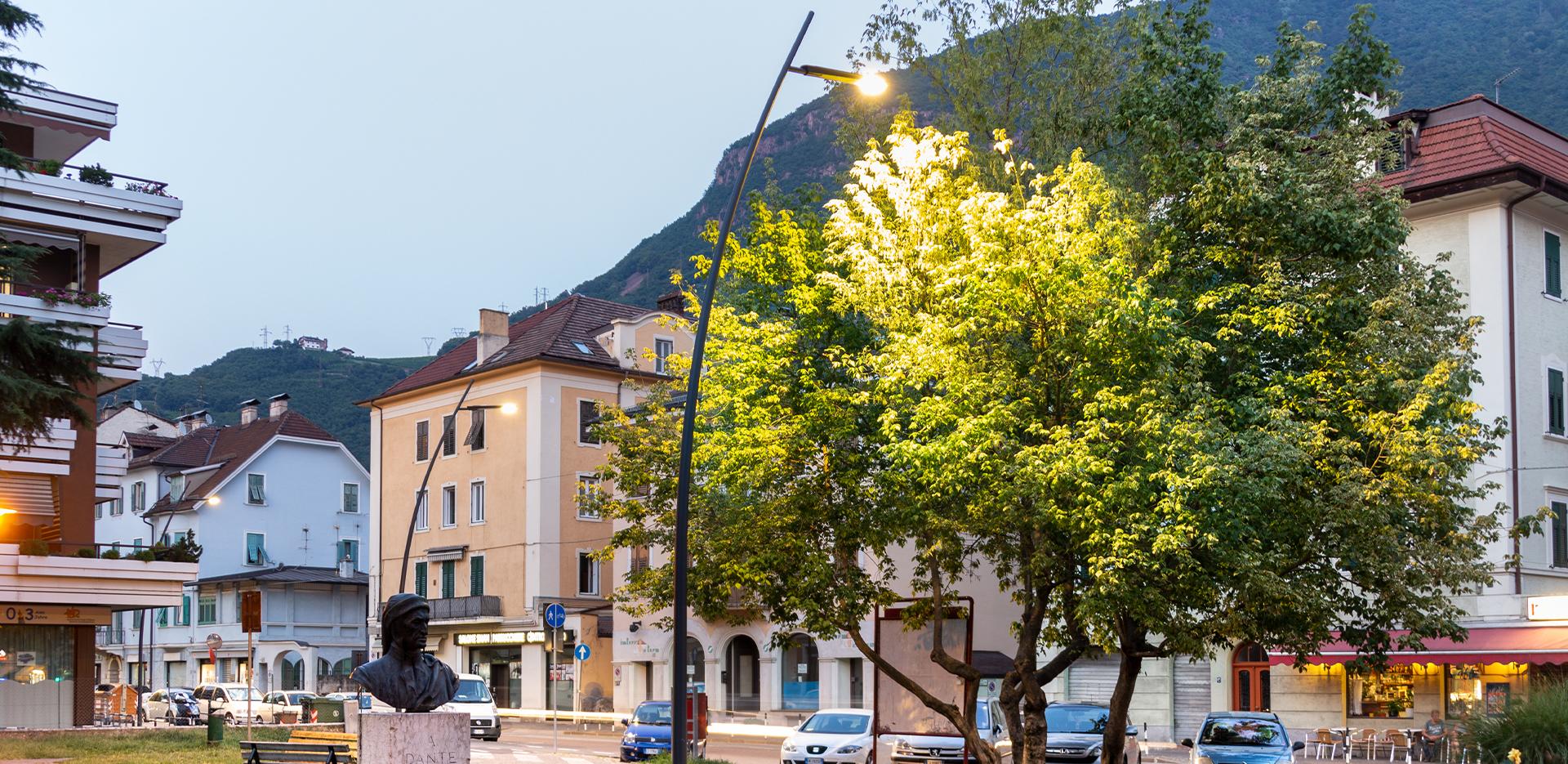 Illuminazione LED delle strade di Bolzano