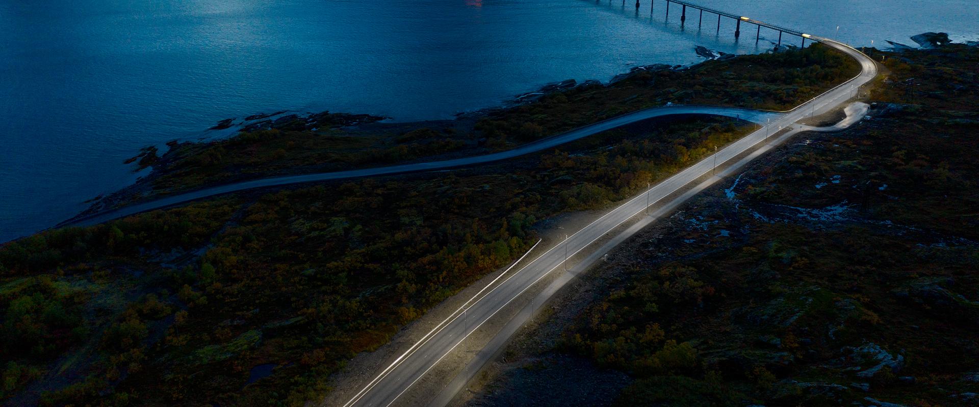 Illuminazione LED delle strade di Skjervoy