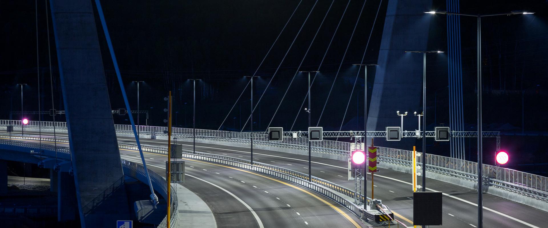 Illuminazione stradale LED del Farris Bridge