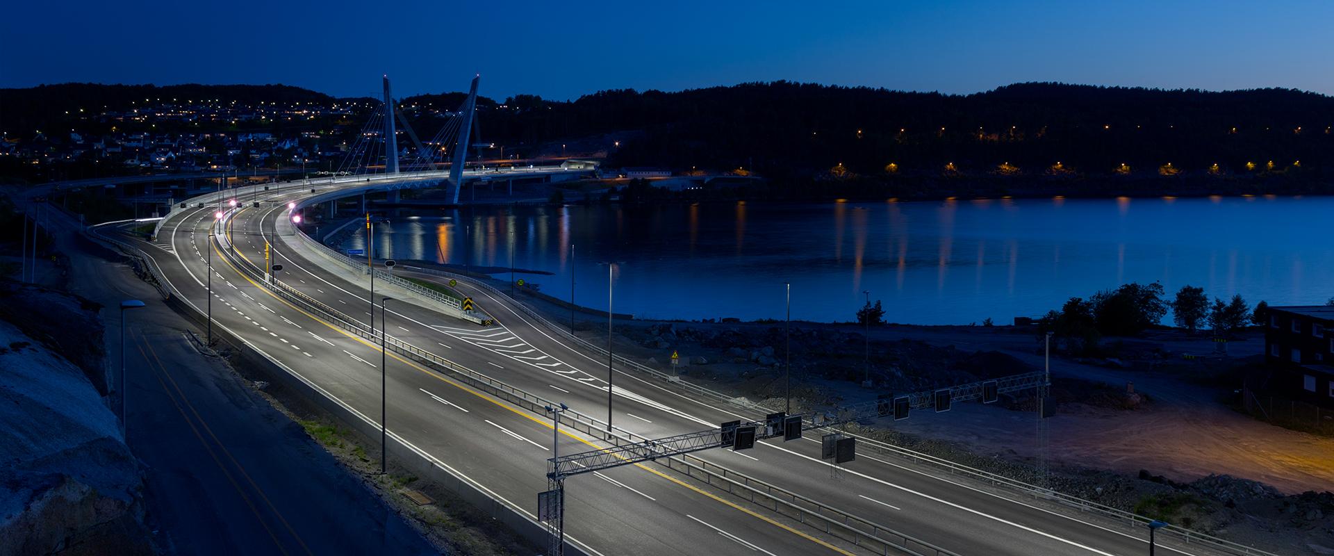 Illuminazione LED del ponte di Larvik