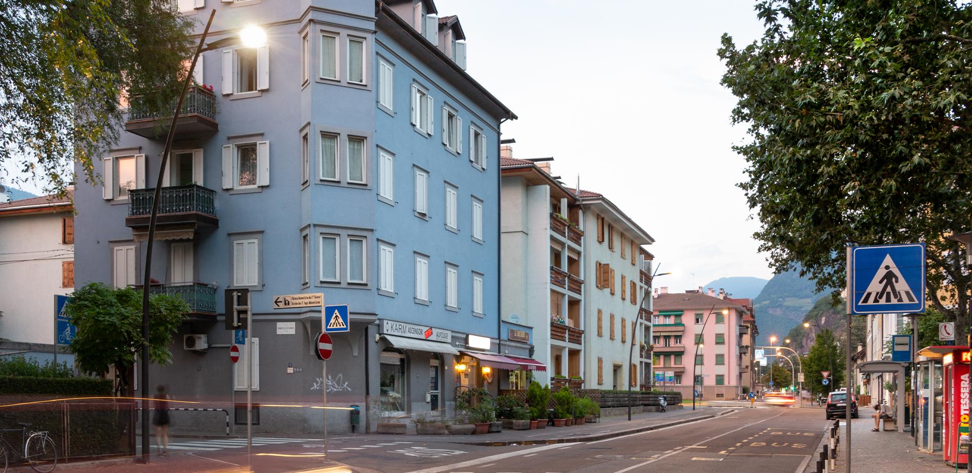 illuminazione delle strade di Bolzano