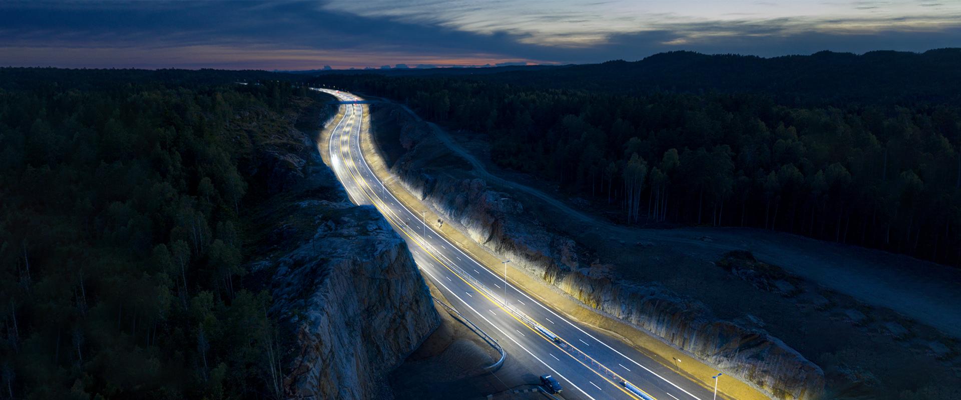 Armature stradali a LED