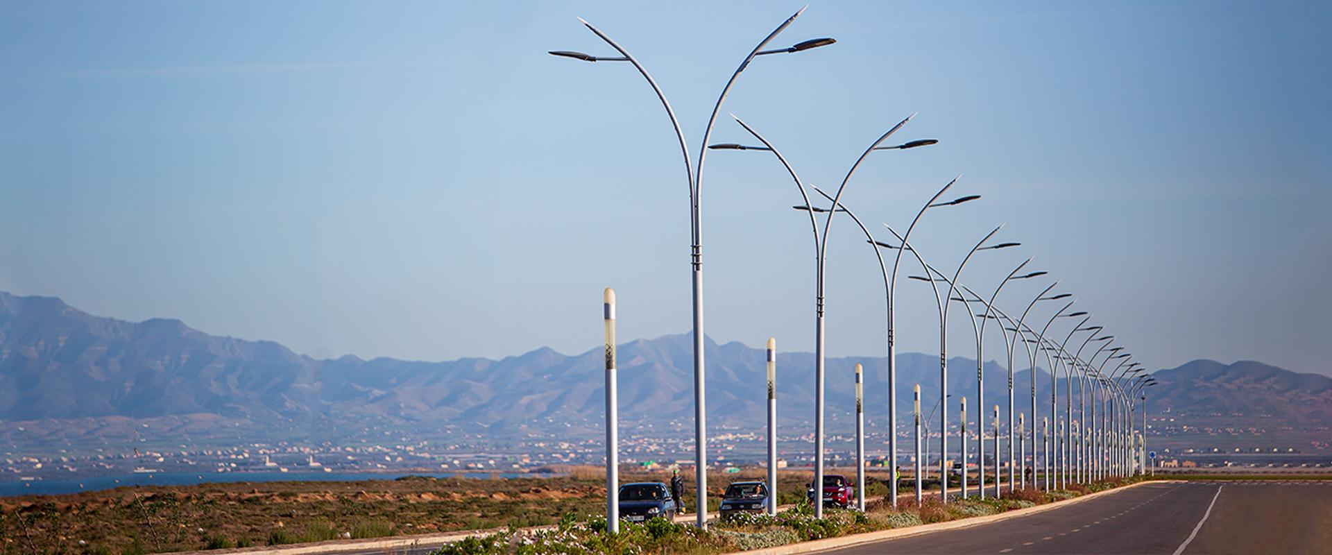 Illuminazione stradale LED di Nador