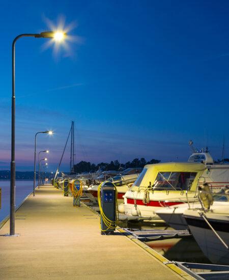 Lampione pubblico a LED