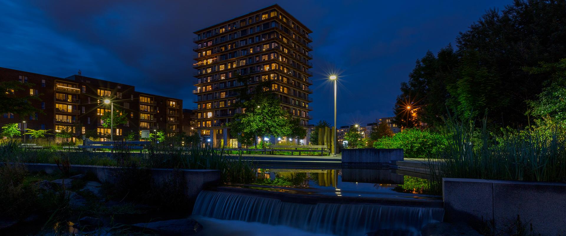 illuminazione LED parchi pubblici