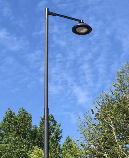 Palo illuminazione pubblica stradale urbana rastremato DS AEC Illuminazione