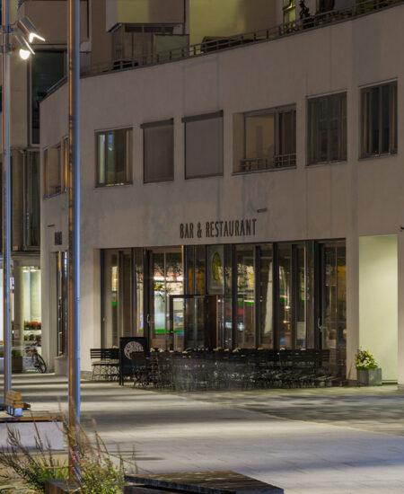Lampione pubblico per aree residenziali a LED