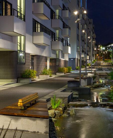 Lampione LED per aree residenziali