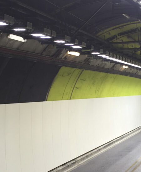 Illuminazione tunnel stradale