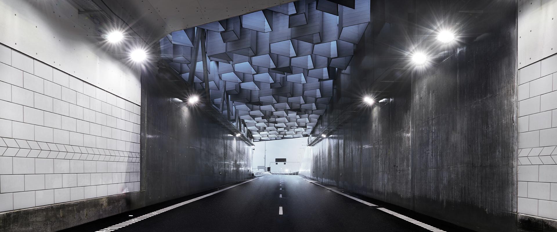 Faro LED stradale per gallerie
