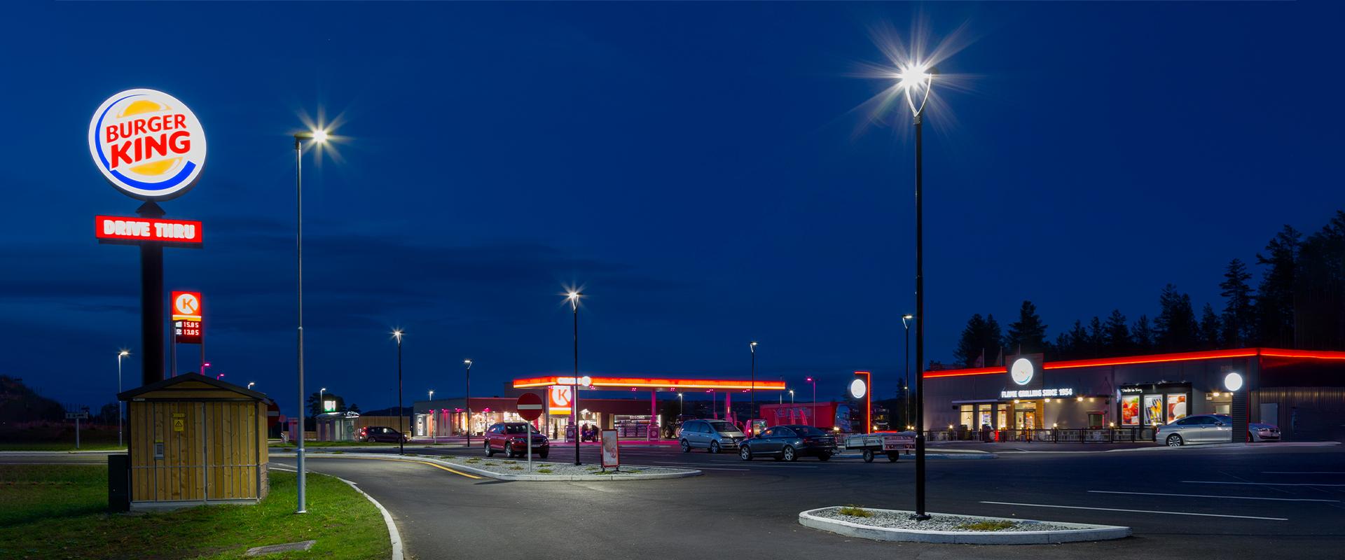 Illuminazione LED stazioni di servizio