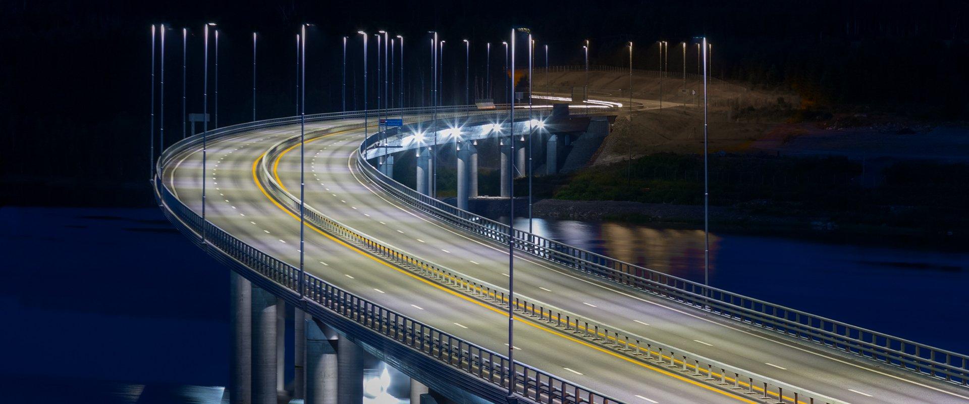 Lampione LED stradale