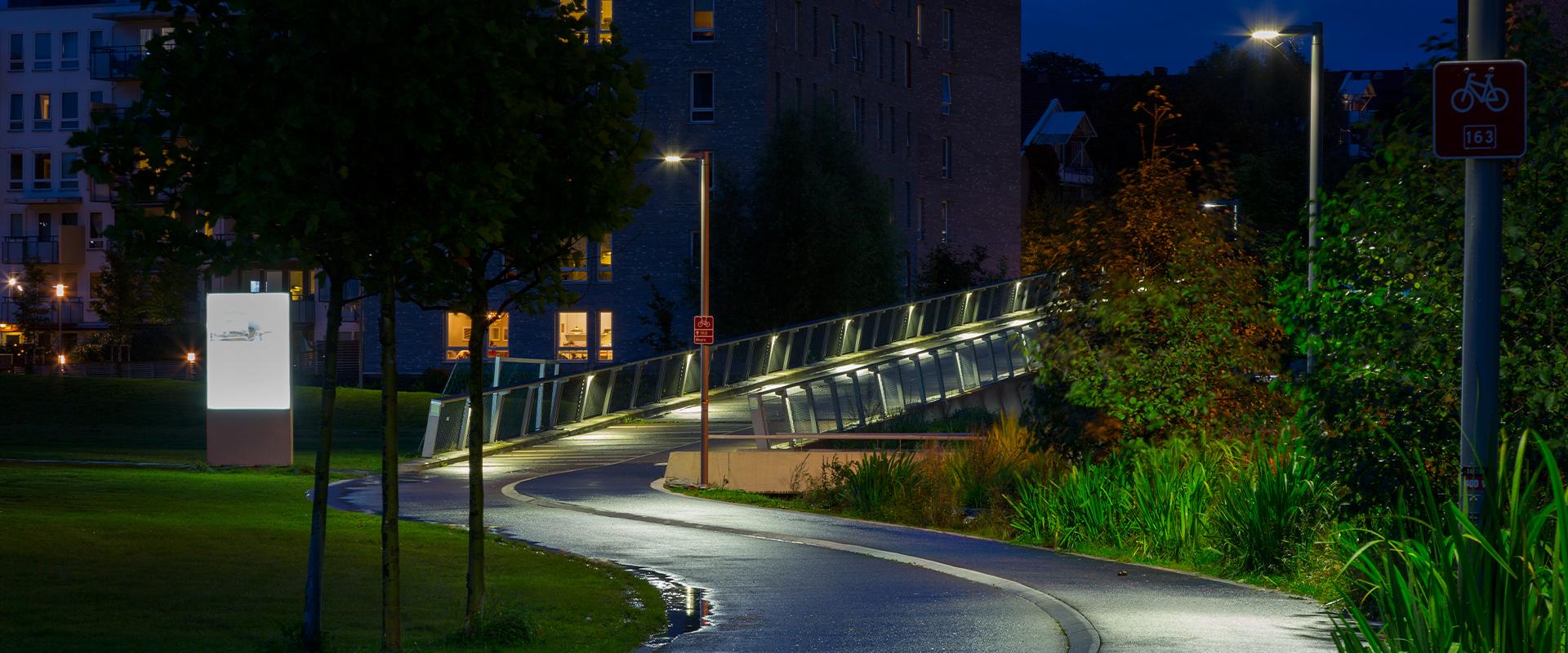 Lampioni LED parchi pubblici