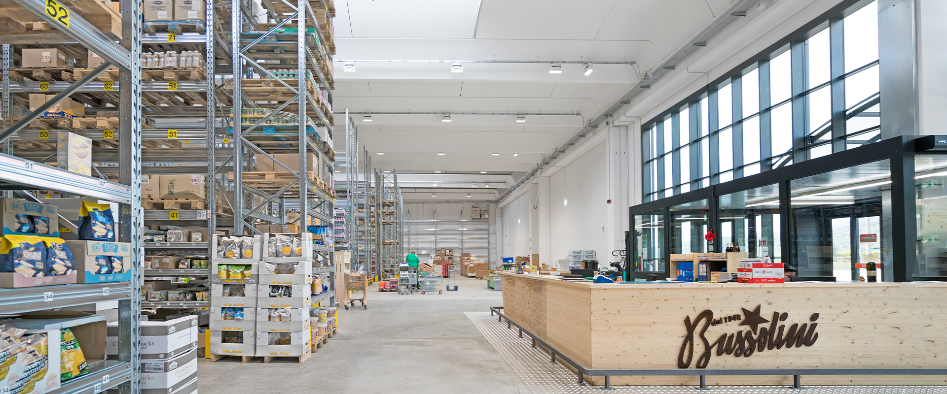 Illuminazione LED interni industriali