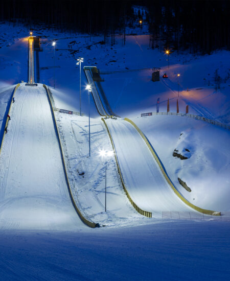 Illuminazione LED piste da sci