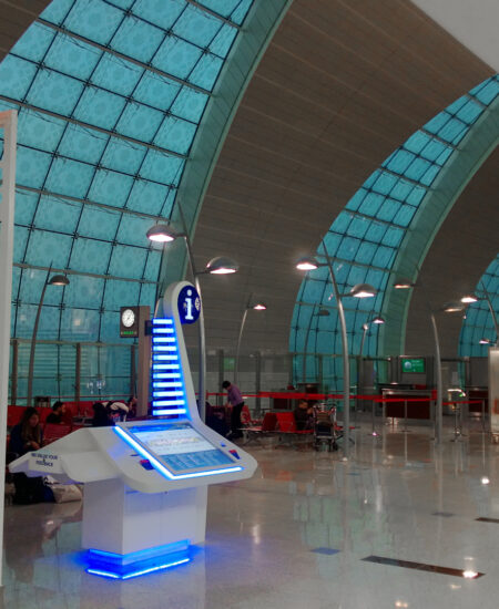 Illuminazione terminal 3 aeroporto Dubai - AEC Illuminazione