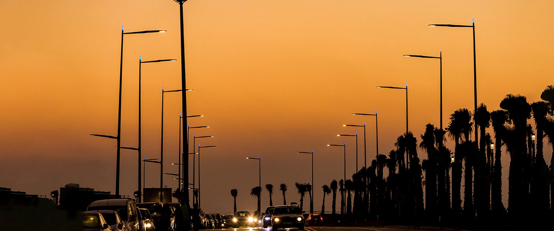 Illuminazione stradale LED di Casablanca