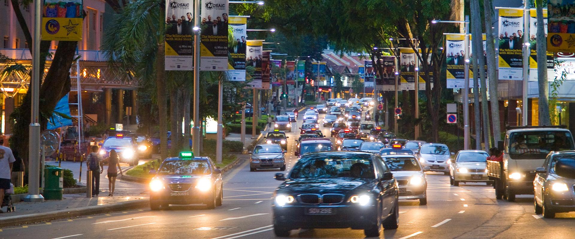 Illuminazione LED distretto shopping