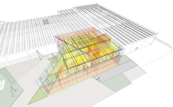 Progetto sbga ITC Innovation Technological Center area di ricerca e sviluppo di AEC Illuminazione